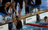 (Athens, Greece  on Sunday, Aug. 15, 2004) - South African relay team member Roland Schoeman...