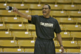 CU head basketball coach Ricardo Patton at CU basketball practice Tuesday afternoon Feb. 27, 2007...