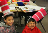 Ivan Santibanez, 7,  left, and Mario Alatorre, 6, first graders from North Elementary School in...