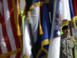 Staff Sgt. Bethel of the Colorado Army National Guard 3650th Maintenance Brigade listens listens...