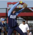 (Aurora, Colo.,- October 17, 2003), -  Ralston Valley pitcher Jackie Martinez winds up against a...