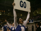Kristen Curry (cq) cheers as her team the Broomfield Eagle look like they will win during the 4th...