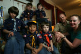 DLM1544  The cub scouts of Pack 459 in Littleton, Colo. Thursday, March 8, 2007. From left: Jesse...