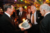 The candles on Marvin's birthday cake keep going out and re-lighting.  (STEVE PETERSON/SPECIAL TO...