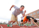 The Fox family has a long track tradition at Fort Collins High School. Senior Brian Fox (cq) takes...