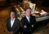 Developer Mark Falcone and architect David Tryba  unveiled the new plans for Kent Place, the...