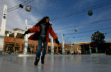 Selena Orr, 10, of Sarasota, Florida, enjoys some ice skating at The Rink at Belmar Monday...