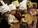 "Freddie Mewhirter, 2, (second from left) is stage struck while the rest of his class ""I'm A..."