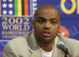 NY159 - ** FILE ** Former NBA great Charles Barkley discusses the upcoming World Basketball...