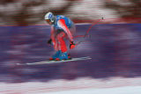Austrian skier Werner Franz flies off the Red Tail Jump during a training run Wednesday November...