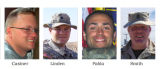 TOLL117 - U.S. troops killed during the war in Iraq are seen in this photo combo. From left:  ...