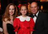 (Denver, Colo., December 1, 2006) Carol and Joel Farkas with their Sugarplum daughter, Juliet. ...