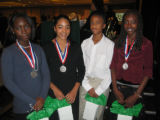 Denver School of the Arts students and National History Day second place winners in the Junior...
