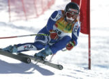 Peter Fill, Italy skis the downhill portion of the combined  on the Birds of Prey World Cup race...