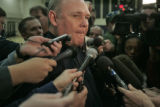 George Karl speaks with the media Monday morning Dec. 18, 2006 concerning the NBA and commissioner...