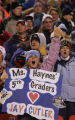 [JPM0041] In the first quarter, Denver Broncos fan fifth grade teacher Monica Haynes (cq) holds up...