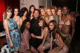 Max Martinez surrounded by his bevy of beautiful models at the annual MAX Fashion Show benefiting...