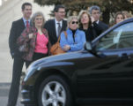 JOE440 Former Qwest CEO Joe Nacchio, third from right, family members and members of his  legal...