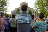 (DENVER, CO. 5/17/04)   Supporters of gay and lesbians being able to wed legally came out to the...