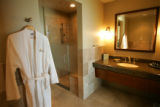 The bathroom in one of the Pavilion Suites at the Anschutz Inpatient Pavilion at the Fitzsimons...