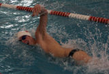 Charlie Patch, of Regis High School, competes in the 200 yard freestyle, during a meet Thursday...