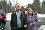 Robert and Lorie O'Neill, from Tennessee, look at their new HGTV Dream Home for the first time, in...