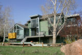 The exterior of the back of John and Trish Morphew-Lewis's house in Boulder on March 27, 2007....