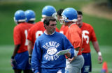 (8/16/95 Denver, Colo.) Denver Broncos coach Mike Shanahan during practice. ROCKY MOUNTAIN NEWS...
