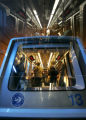 0206 A DIA train carries passengers to the concourses from the security check point in Denver,...