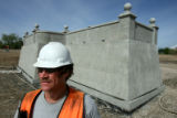 DLM0148  Gary Coffey, 45, of Lakewood is a superintendent with Concrete Works of Colorado and he...