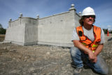 DLM0149  Gary Coffey, 45, of Lakewood is a superintendent with Concrete Works of Colorado and he...