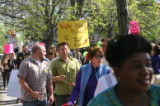 The DCTA (Denver Classroom Teachers Association) held a rally Tuesday May 8, 2007 outside the DPS...