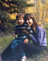 Francys Arsentiev with her son Paul Distefano, approx. 2, in Telluride, Co. circa 1989. Photo...