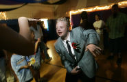 0685 Tyler Brewer, 19, a student at Laradon Hall, dances the day away during the school...