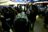 0738 A students tierra brings a beautiful touch to the prom dance at Laradon in Denver  Colo.,...