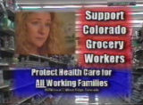 A screen image from a video in support of Colorado grocery workers. SPECIAL TO THE ROCKY MOUNTAIN...
