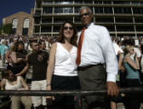 Carlton Floyd (cq) and his wife Jerilyn Floyd (cq) were in the stands during the University of...