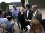CODER101 WILDERNESS BILL. US Congressman Mark Udall, left, US Congresswoman Marilyn Musgrave, US...