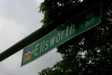 Sign marks Ellsworth as it crosses Broadway in Denver, Colo.on Tuesday May 15, 2007.  Its 2 blocks...