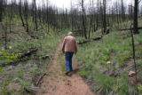 Resident Dick Furtak (cq), goes for a walk on his property, May 24, 2007, at his home in the...