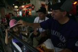 For Kevin Vaughan fan story. Dan Sauvageau adjusts the Colorado Rockies cowboy hat that his...