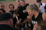 Brighton softball team rebs up for their game against Cherokee Trail at the Brighton HS in...