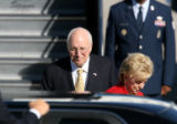Vice President Dick Cheney and wife Lynne Cheney arrived at Denver International Airport Thursday...