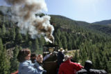 Wednesday saw hundreds of train riders enjoying the views from train cars on the Georgetown Loop...