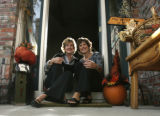 0032 Co-founders of the Grandmother's House Boutique Susan Bills, CQ, left,  and Kathy Mathison,...