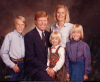 The Gephardt family in a vintage portrait.  Parents Dick and Jane Gephardt appear in FOR THE BIBLE...