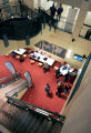 Students work in the Byron R. Koste Atrium, one of the many open work areas at the Leeds School of...