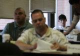Shawn Nelson(cq) attends a workshop at Ft. Carson which helps enlisted military personnel who are...