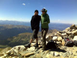 Shannon Foley and James Chippendale on Grays Peak.