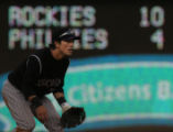 [JOE0270] Colorado Rockies Kazuo Matsui take his position at second in the sixth inning against...